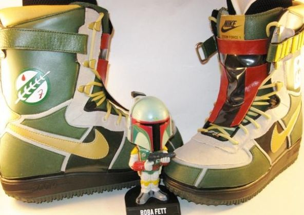 Nike Boba Fett Zoom Force 1 Snowboard Boot Customs | Boba