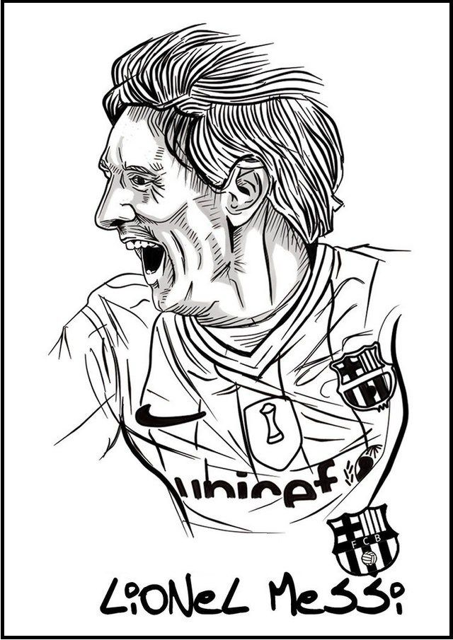 messi soccer football player coloring pictures sport