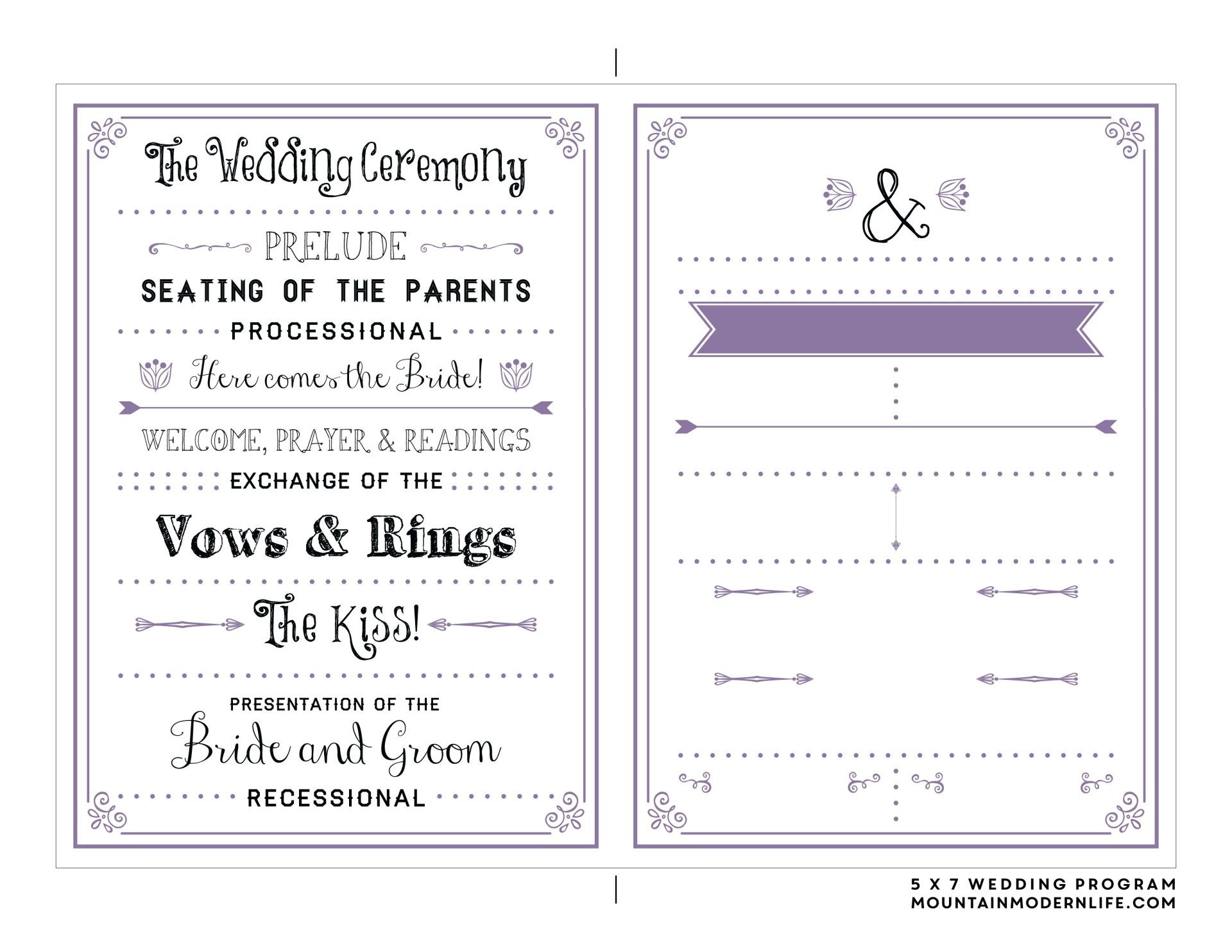32 Amazing Image Of Free Printable Wedding Invitation Templates Download Denchaihosp Com Wedding Program Template Free Free Wedding Printables Printable Wedding Program Template Free wedding program template downloads