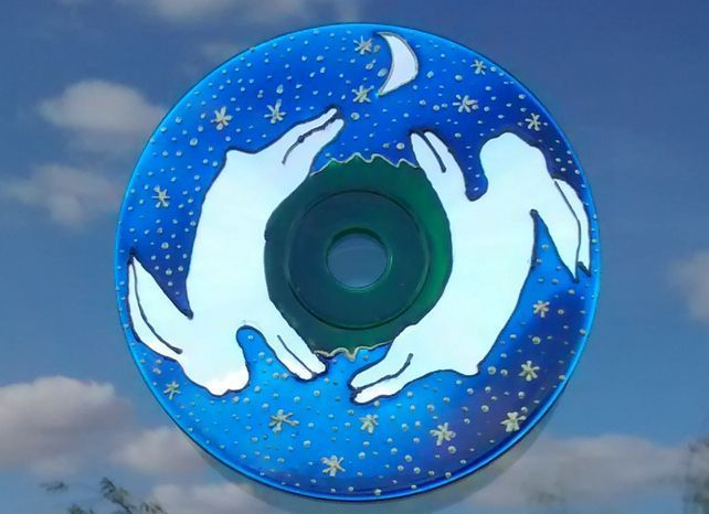 Moon chasing hares window decoration. Handpainted recycled CD. Eco friendly gift #recycledcd Moon chasing hares window decoration. Handpainted recycled CD. Eco friendly gift #recycledcd Moon chasing hares window decoration. Handpainted recycled CD. Eco friendly gift #recycledcd Moon chasing hares window decoration. Handpainted recycled CD. Eco friendly gift #recycledcd Moon chasing hares window decoration. Handpainted recycled CD. Eco friendly gift #recycledcd Moon chasing hares window decoratio #recycledcd