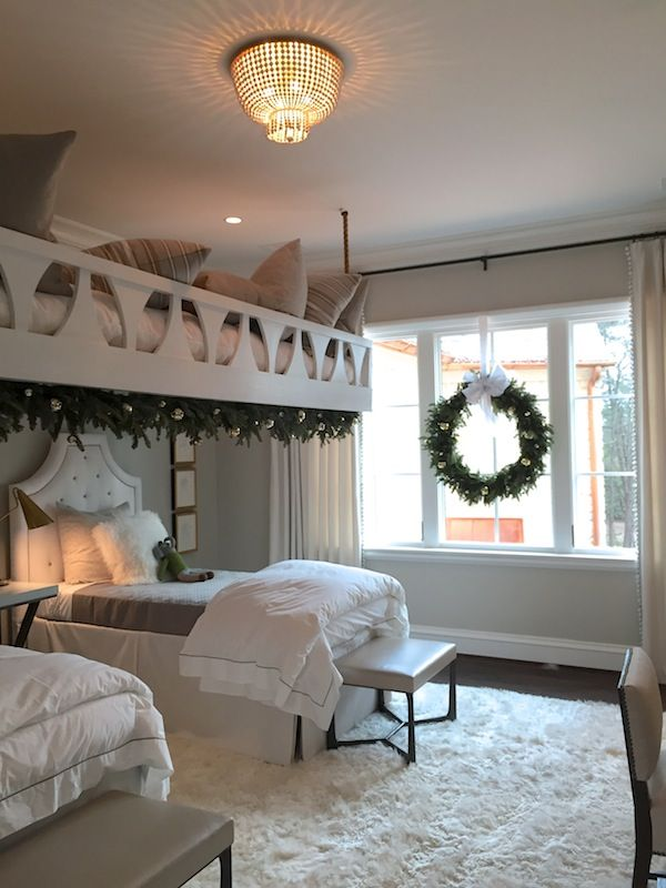Charming bunk room decorated for Christmas in Atlanta's home for the holidays 2016 showhouse