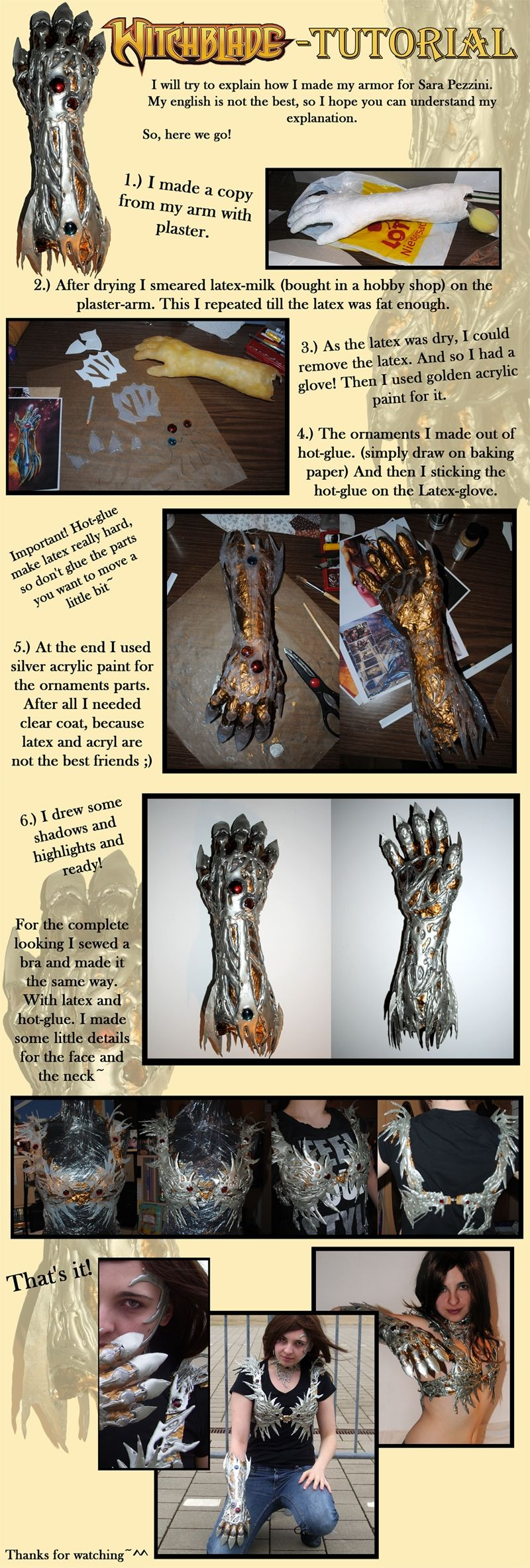 Witchblade Arm armor Tutorial | Personal: Cosplay | Cosplay