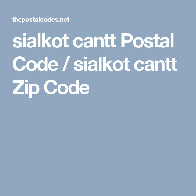 Sialkot postal code