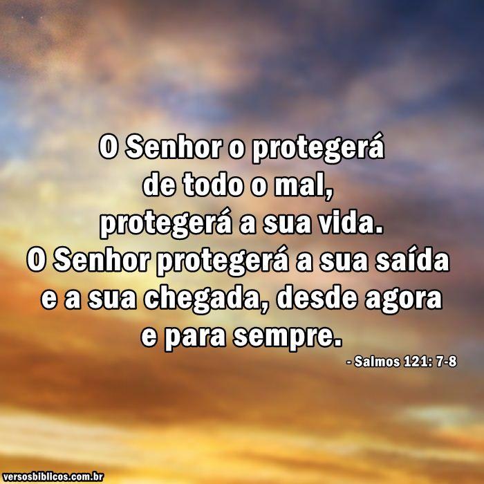 Muitas vezes Salmo 121: 7-8 | Fé, Esperança e Amor | Pinterest | Bíblia, Fé e  QE16