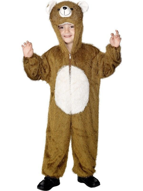 Boys Girls Brown Bear Animal Fancy Dress Costume Childs Book Day Outfit