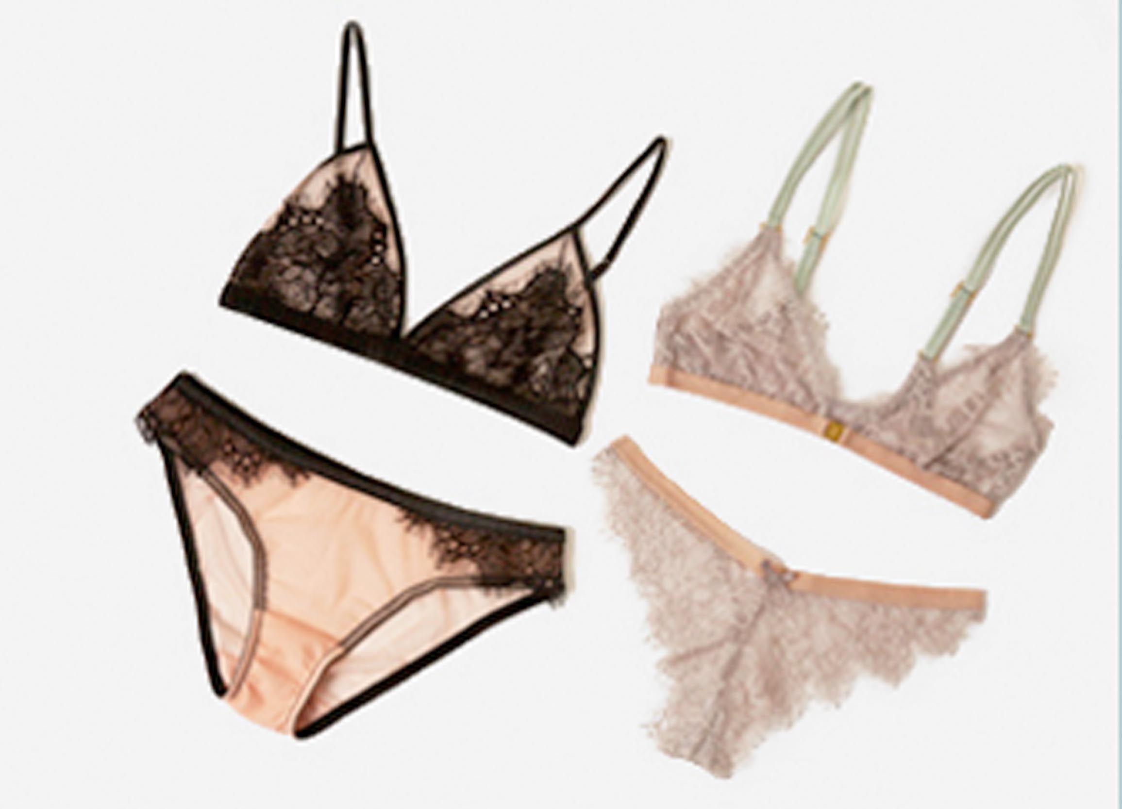 a/w lingerie Topshop triangle bras lush