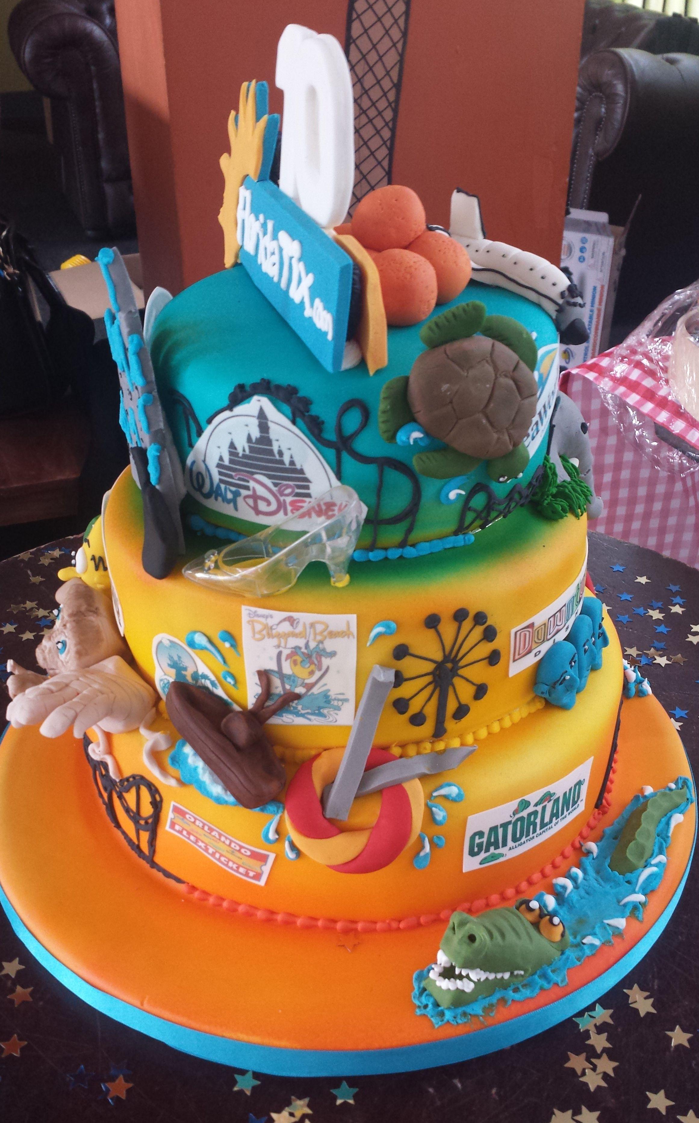 Floridatix Birthday Cake Florida Orlando Disneyworld
