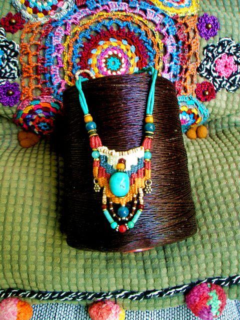 ~ weaving necklace ~ by AowDusdee, via Flickr