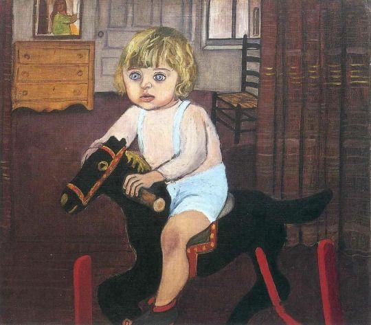 "ALICE NEEL  - ""Hartley on the Rocking Horse"" (1943)"