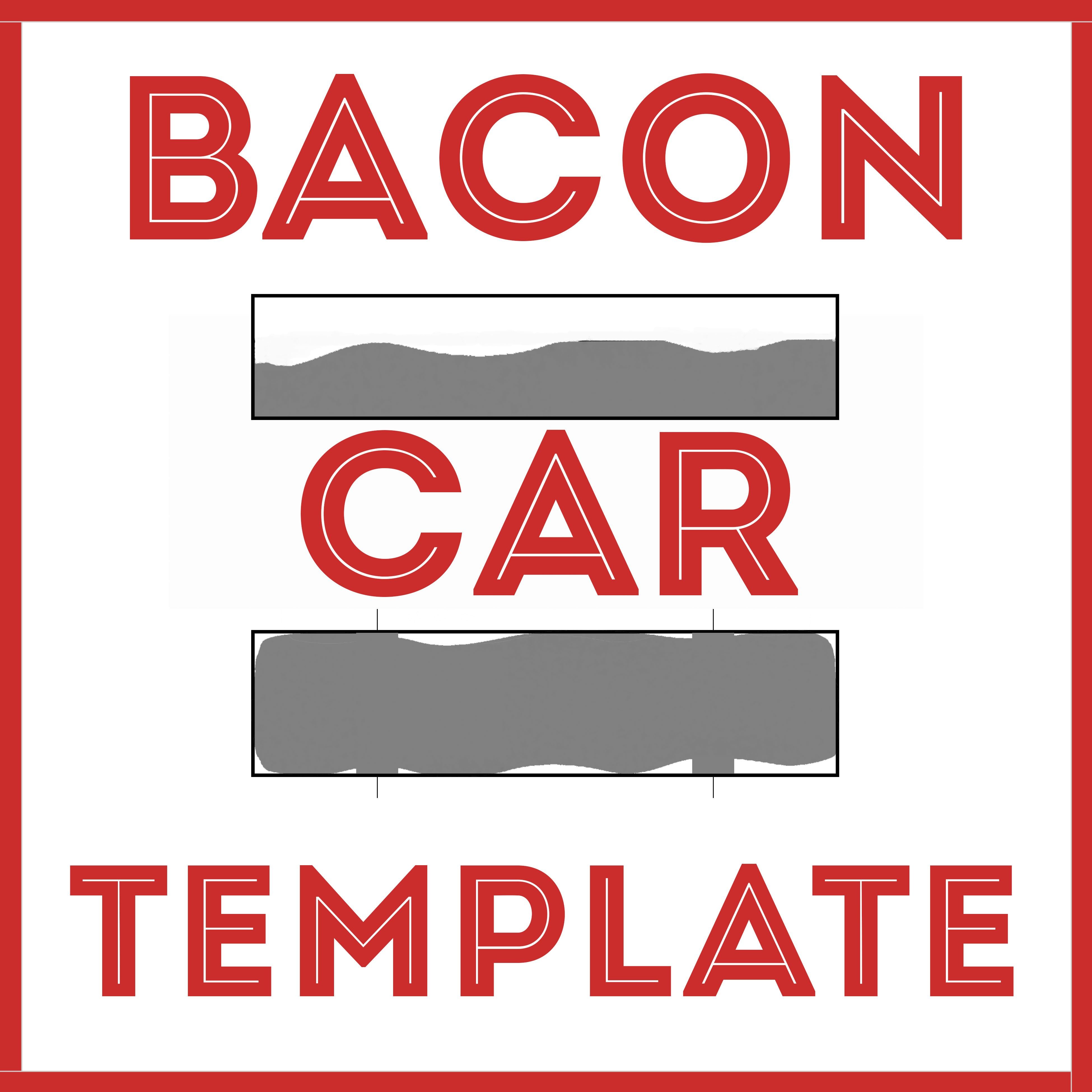 Bacon Car Awana Grand Prix / Pinewood Derby Template | DIY Resources ...
