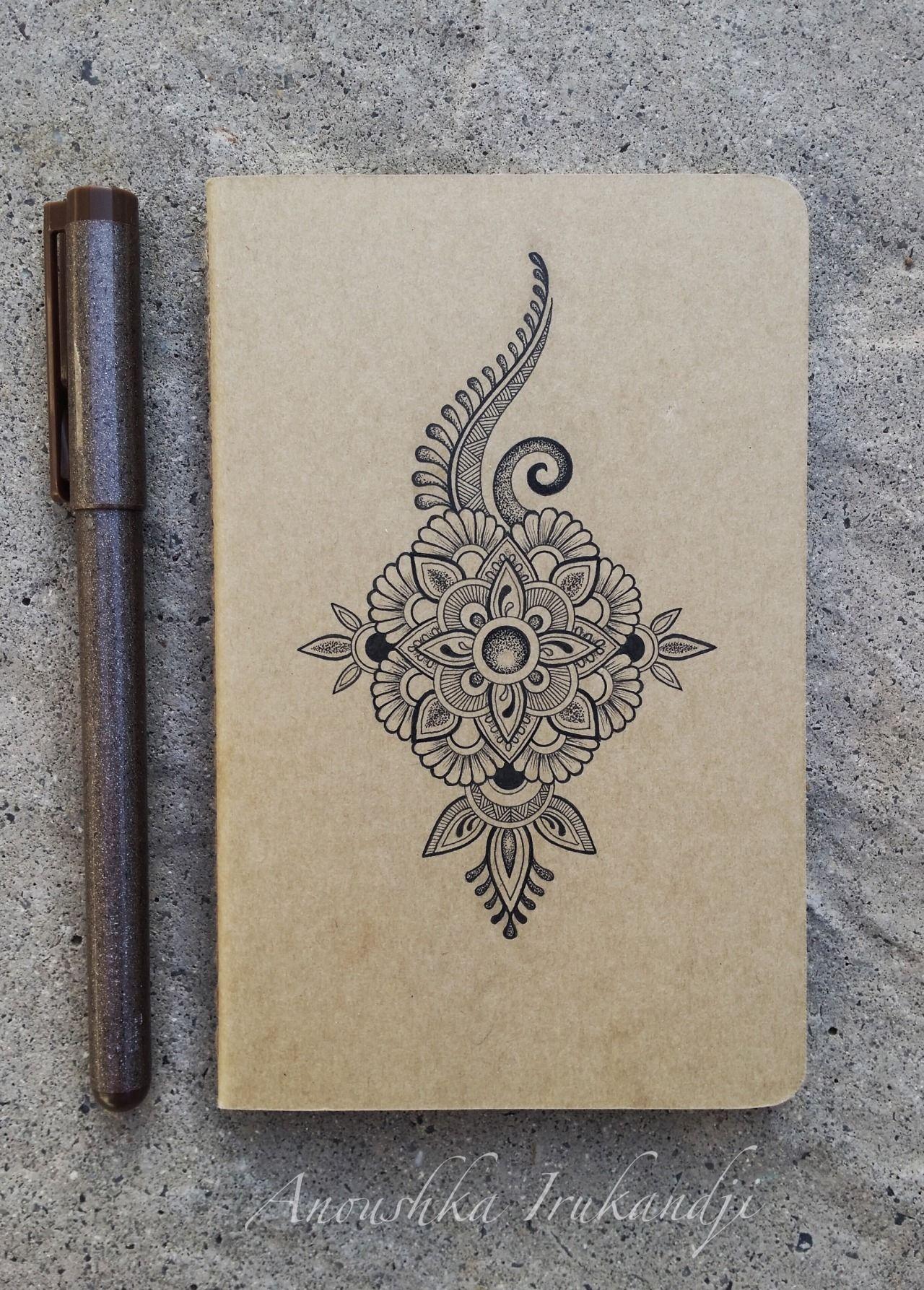 Tiny Mandala,tiny Moleskine…. www.irukandjidesigns.bigcartel.com ...