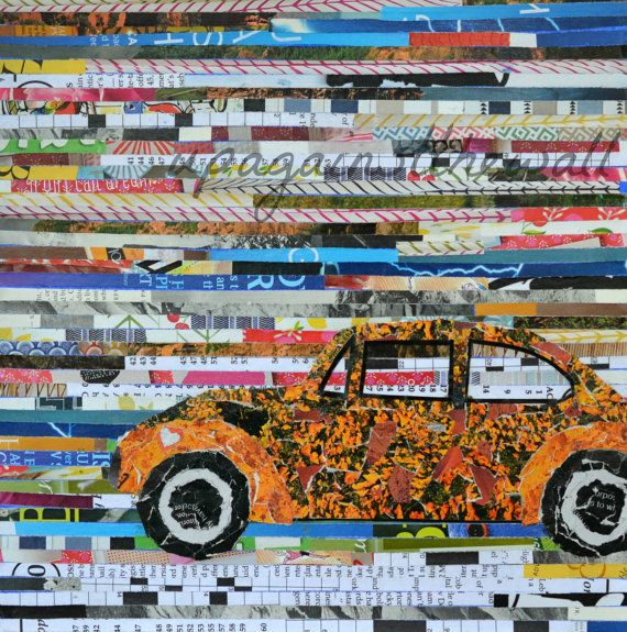 VW Magazine Collage Print