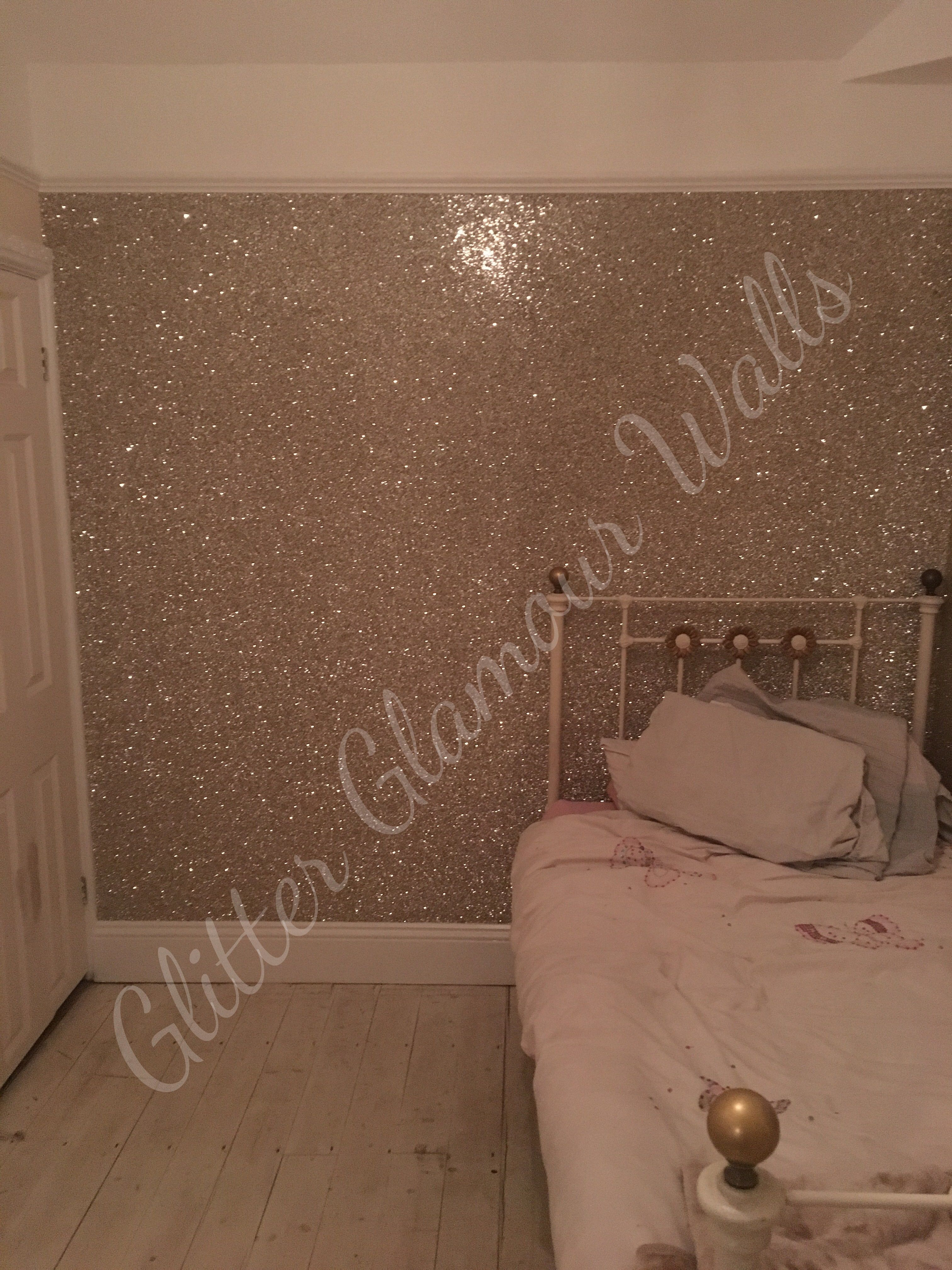 Our Champagne Gold Silver Mix Glitter Wallcovering Looks Like A