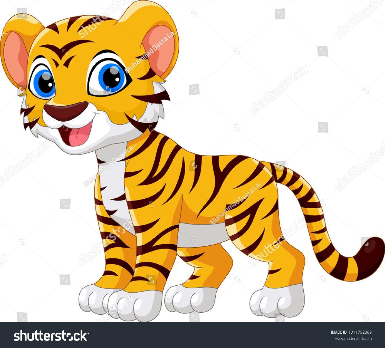 Baby Tiger Cartoon Tiger Cartoon Clip Art Cute Tigers