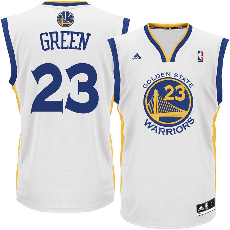 f866928c9ef Draymond Green Golden State Warriors adidas Home Replica Player Jersey -  White