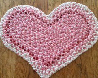 Tappeto in lana intrecciata ovale 2 x 3 Etsy Tappeti