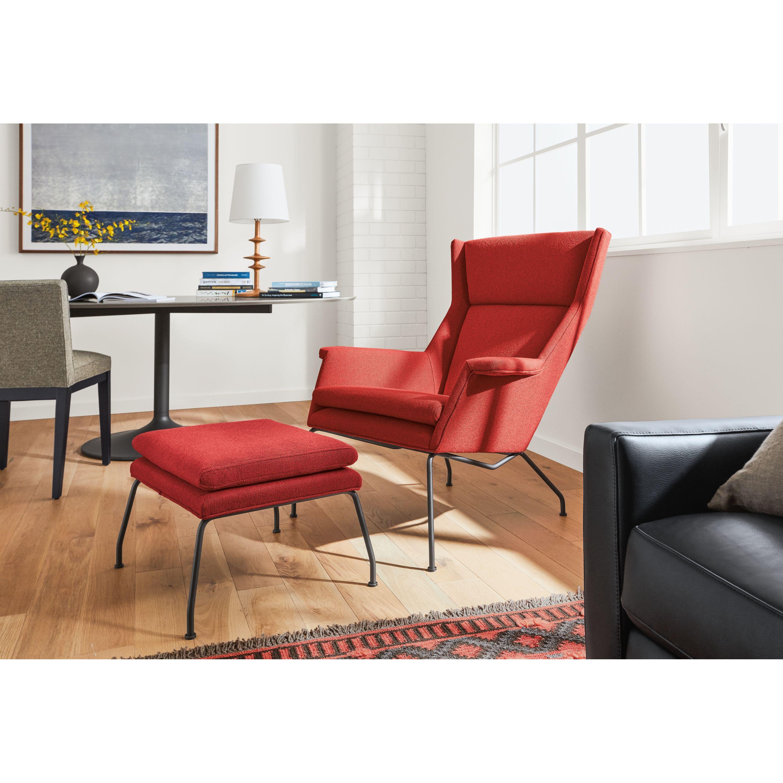 Aidan Chair Ottoman Modern Accent Lounge Chairs Modern Living Room Furniture Chair Ottoman Furniture Living Room Furniture