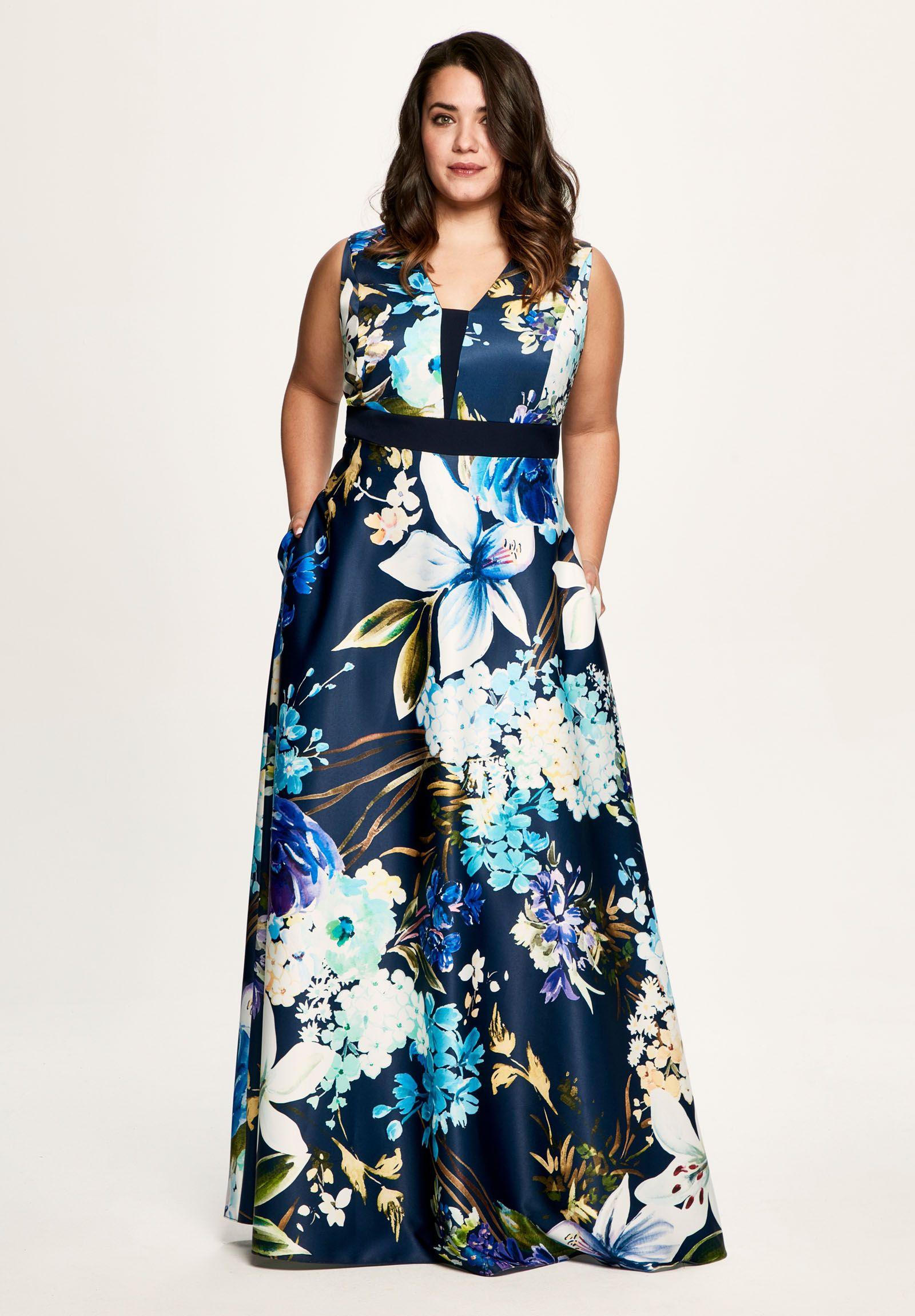 Vestidos Estampados Para Invitadas A Bodas En Tallas Grandes Vestidos Vestidos Para Senoras Gorditas Vestido Para Gorditas