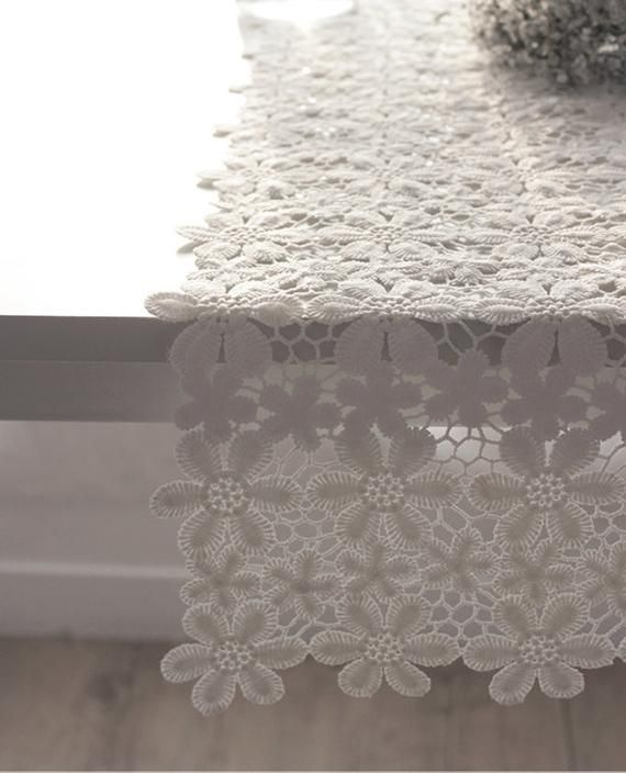 Photo of Items similar to Free shipping-Pure Wedding Tablecloth Table…
