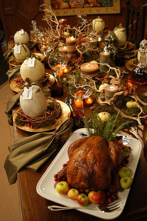 Thanksgiving bounty.....Colin Cowie | Dinner table setting ...