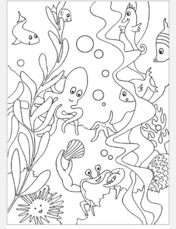ocean scene ocean coloring pagescoloring