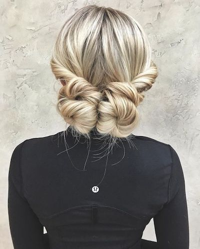 Fabulous Hair Updo On Blonde Hair That Takes No Time To Do Medium Length Hair Styles Medium Hair Styles Work Hairstyles