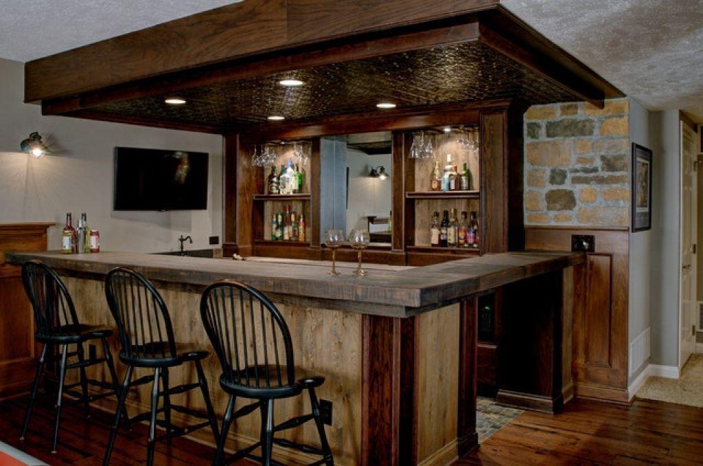 Designing A Basement Bar Custom Basement Bar Rustic