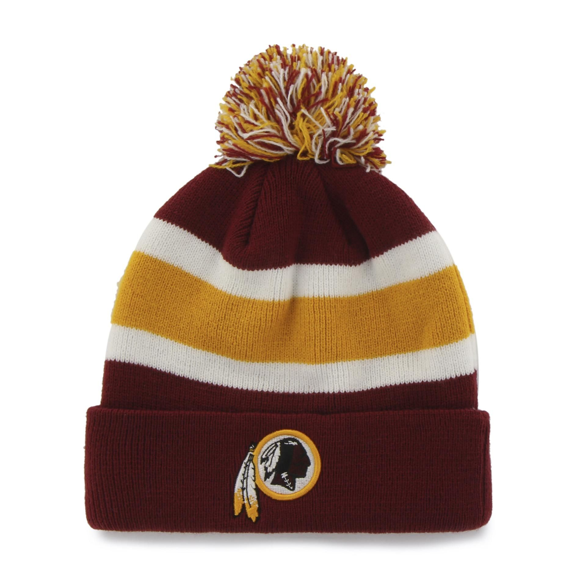 Show team pride while you keep your head warm with this  strong Washington  Redskins breakaway beanie from the NFL  strong . Crafted from stretchy rib  knit ... 23f4b0b0b