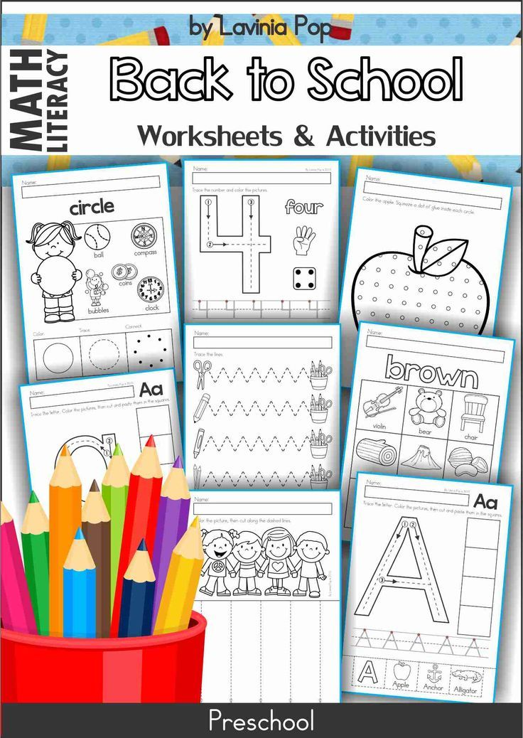 Back to School Preschool No Prep Worksheets & Activities Back to School Preschool No Prep Worksheet