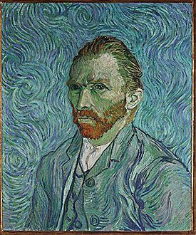 Self Portrait, 1889, Vincent Van Gogh.