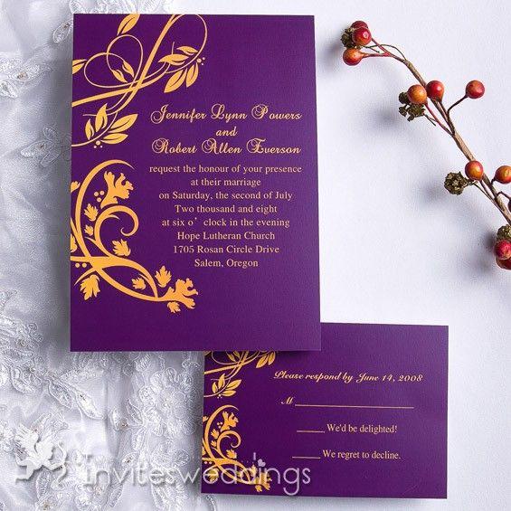 purple and gold summer wedding invitation iwi071 wedding invitations online invitesweddingscom - Purple And Gold Wedding Invitations