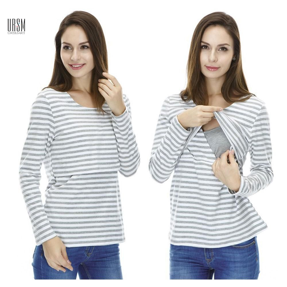 48fbed2584b6c 2XL Moms Fashion Pregnancy Maternity Clothes Maternity Tops/T-shirt  Breastfeeding Shirt Nursing Tops For Pregnant Women. Yesterday's price: US  $14.99 (13.36 ...
