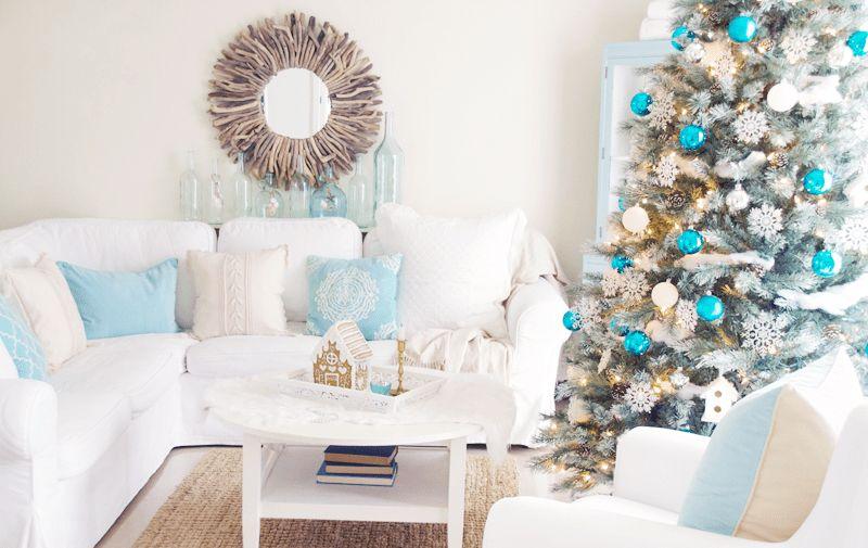 How To Add Winter Decor To A Coastal Design Decorilla Online Interior Design Winter Living Room Decor Coastal Christmas Decor Winter Living Room #winter #living #room #ideas