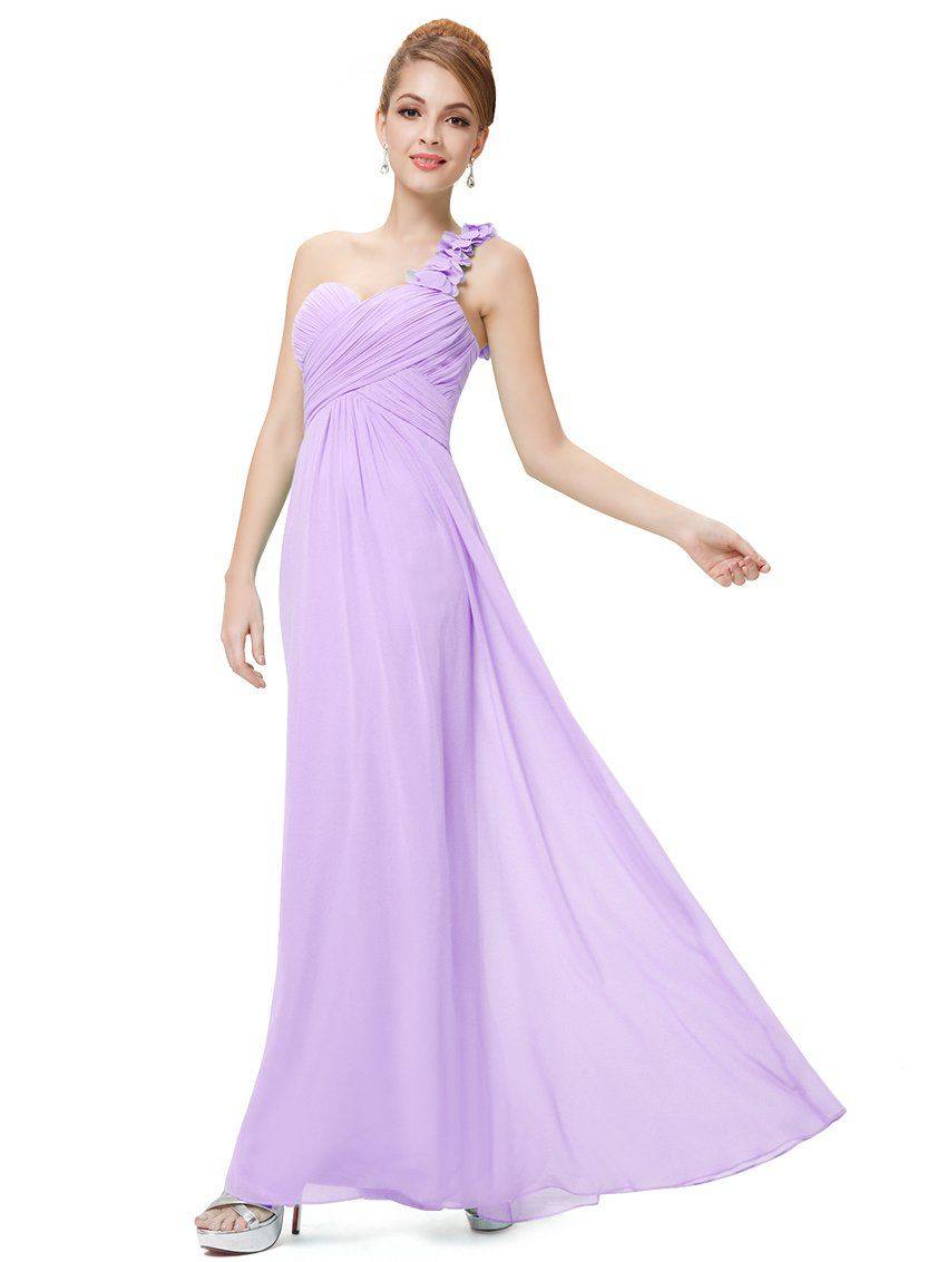 Ever Pretty Women\'s Flowers One Shoulder Chiffon Maxi Evening Dress ...
