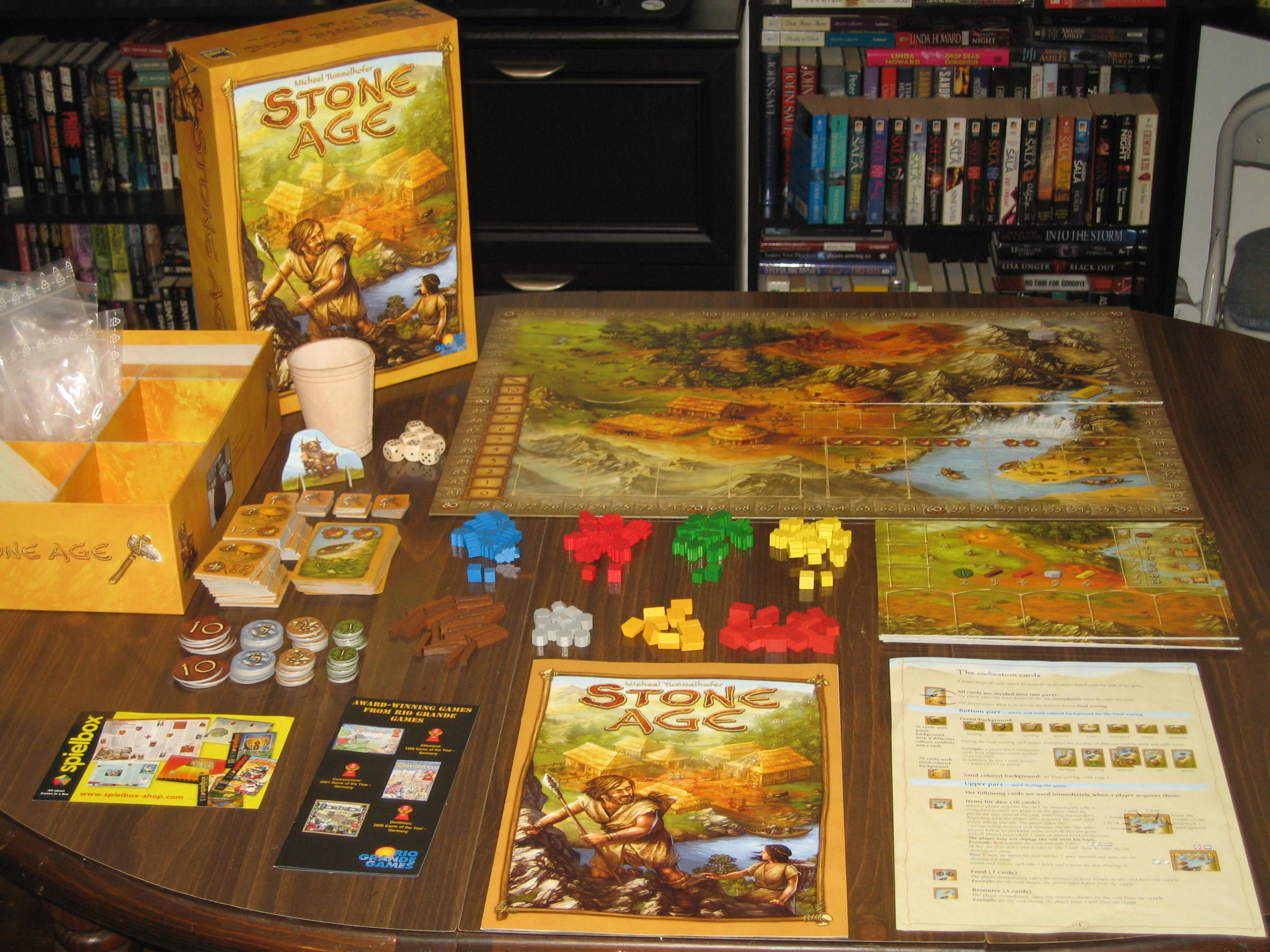 Stone Age boardgames Pinterest Stone age, Stone age