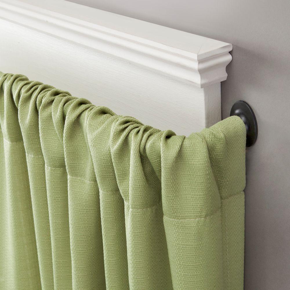 room darkening wrap around curtain rod