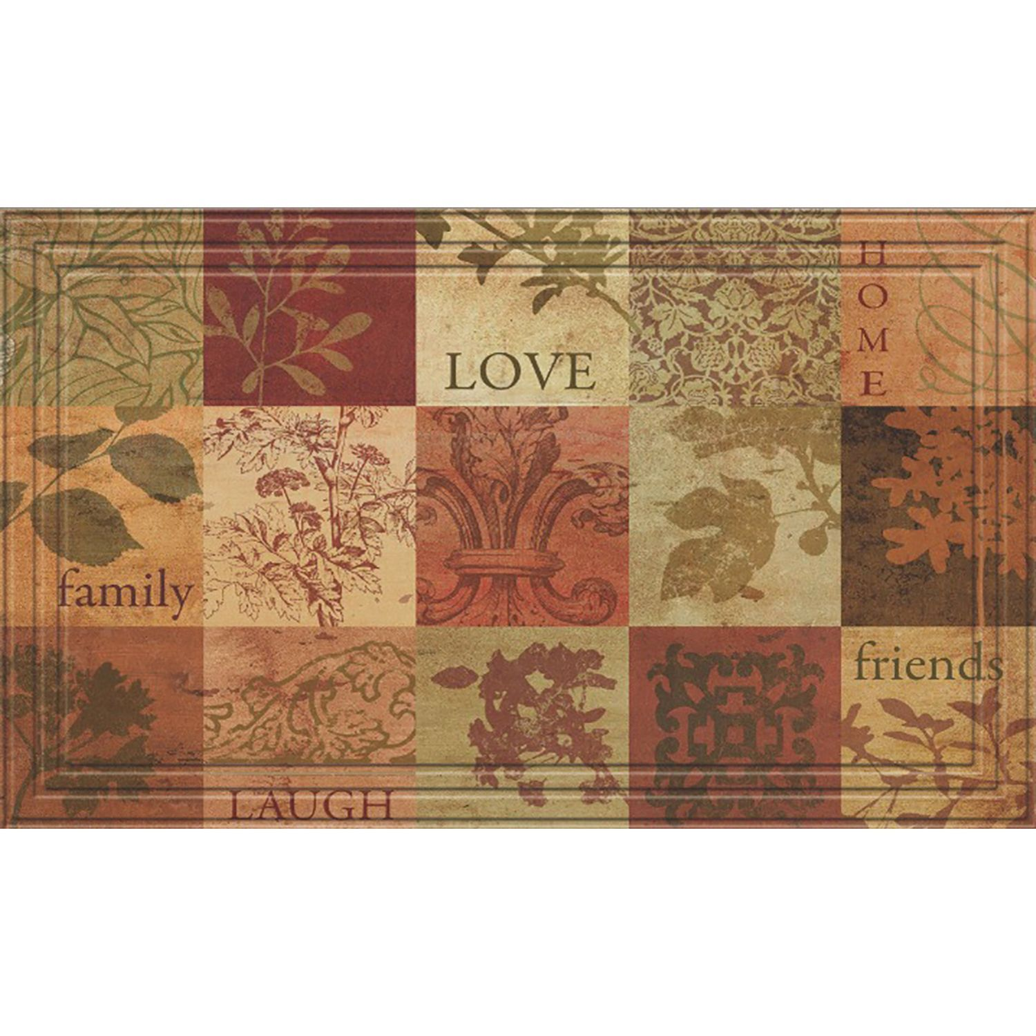 Indoor/Outdoor Patchwork Squares Doormat