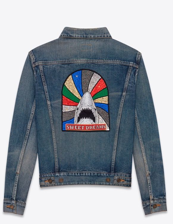 b9fa540eeb New Saint Laurent YSL blue denim sweet dreams jacket SS17 | YSL ...