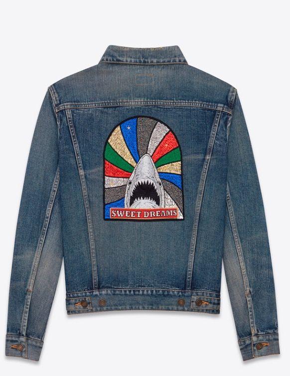 ae141795131 New Saint Laurent YSL blue denim sweet dreams jacket SS17 | YSL ...