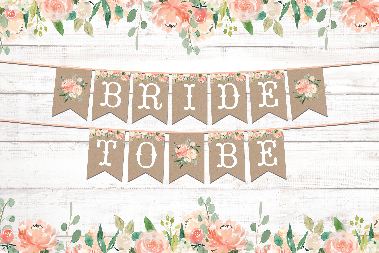 Bridal Shower Decorations Wedding Photo Banner Bride To Be Photo For Bridal Shower Banner Template