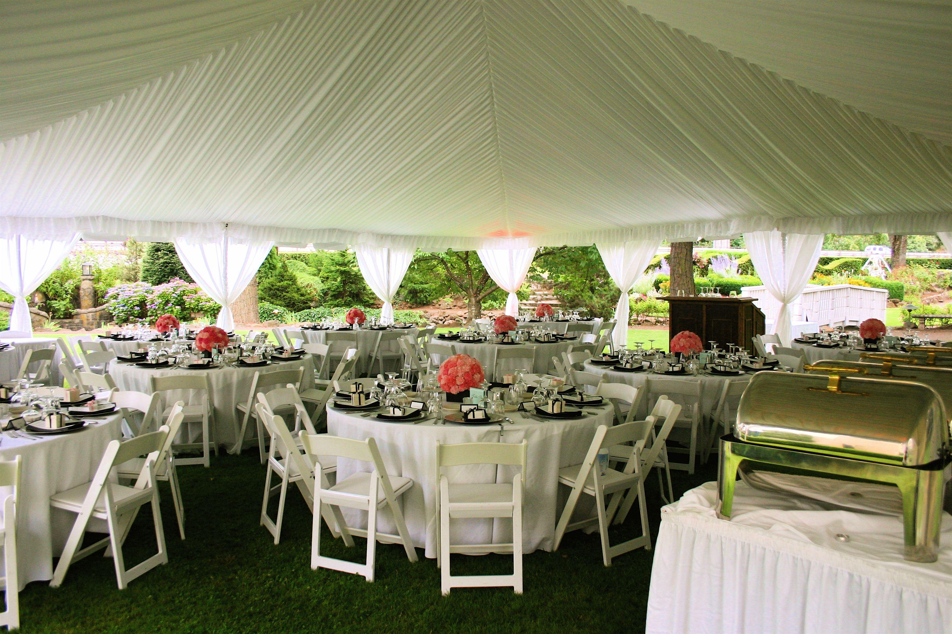 Classic White Tent Wedding Reception Wedding table