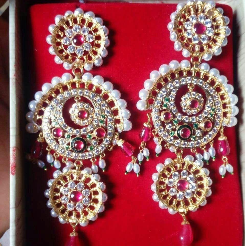 Beautiful Rajputi Jewellery Earings Jewelry Patterns Wholesale