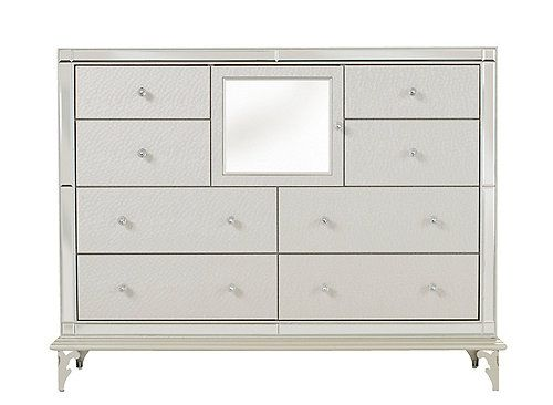 Glittering Crystal Shimmering Frost And The Shine Of Mirror And Chrome Mdash Named After The Fantasy Capital Of T Hollywood Loft Bedroom Dressers Bedroom Loft