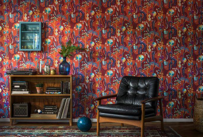 Tistlar 422-64, design Dagmar Lodén - Sandberg Wallpaper