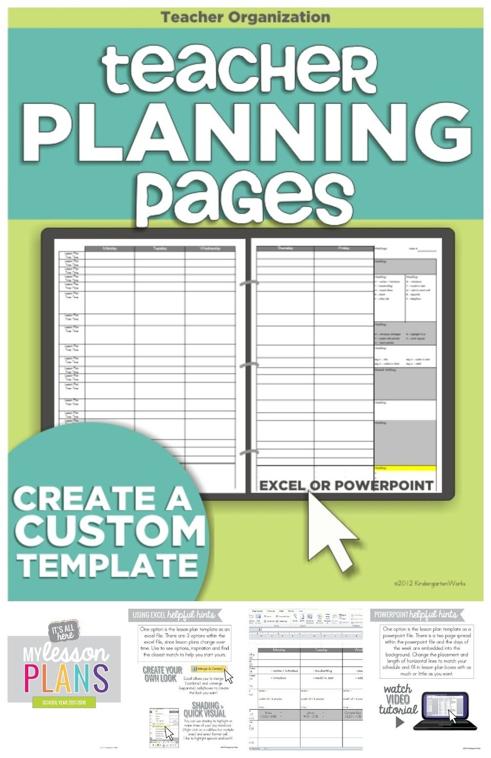 How to Make a Teacher Planning Binder {Binder Basics