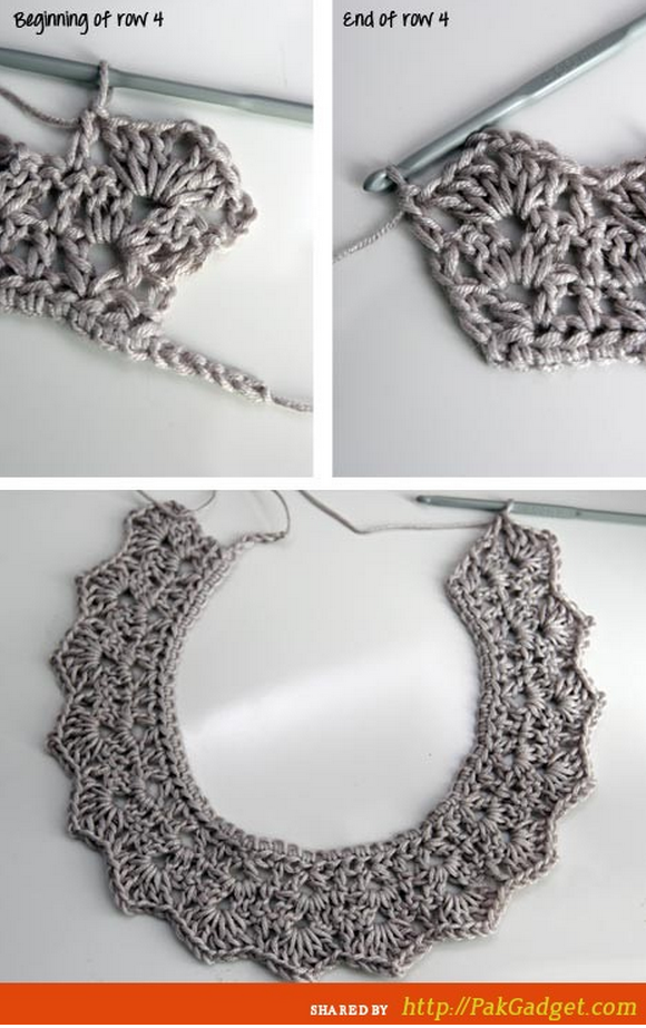 Crochet Necklace Crochet Collars Pinterest Häkeln Häkelketten