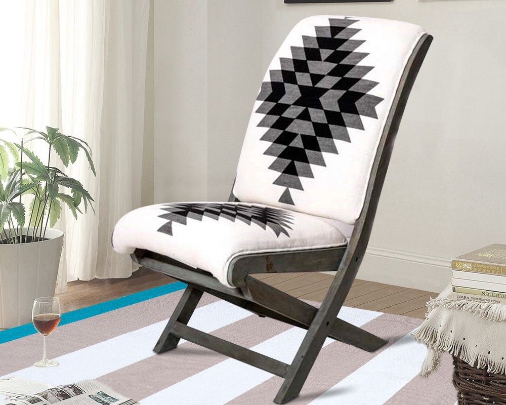 Best Black White Cotton Rug Accent Chair Accent Chairs 400 x 300
