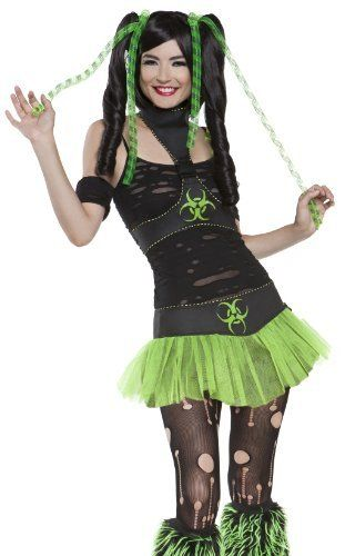 Lip Service Neon Green Cyber Punk Outfit Halloween Costume Halloween Outfits Cybergoth Style Costumes For Women