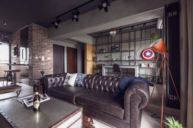 check out this elegant superhero themed apartment apartments