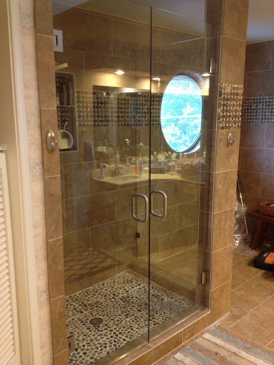 Frameless Shower Doors Double Shower Remodel Ideas Pinterest